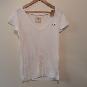 Hollister New White Tee Size L